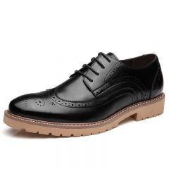 Clearance Brogues Carving Elevator Dress shoes Height Increasing 6cm / 2.36inches Baroque Oxfords