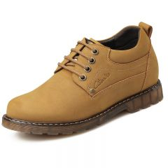 New Winter men's leather casual elevator shoes increasing taller 8cm / 3.15 inches height warm shoes