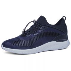 Ultra Light Extra Taller Sneakers 3inch / 7.5cm Blue Height Increasing Elevator Walking Shoes
