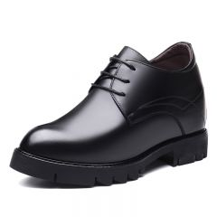 Awesome Taller Business Shoes Smooth Calfskin Elevator Formal Shoes Height 4.7inch / 12cm