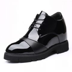 Extra Taller Men Oxfords Height Boosting Cap Toe Dress Shoes Increase 4.7inch / 12cm