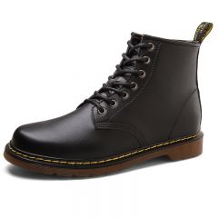 British Height Increasing Ankle Boots Extra Altitude 3.2inch / 8cm Black Lace Up Elevator Cowboy Boots