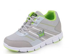Men lace trend height increasing sports shoes extra taller 7.5cm / 3inches elevator leisure sports shoes