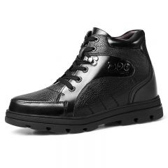 5 inch Extra Tall Elevator Shoes Make Men Looks Height 13 cm Full-Grain Calf Leather Shoes