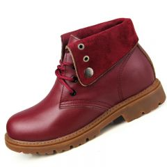 height increasing elevator martin boots for women grow taller 7.5cm / 2.95inches casual shoes