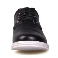 Black hidden height increasing casual shoes get taller 6cm / 2.36inches