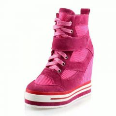 breathable mesh height increasing shoes for women grow taller 12cm / 4.72inches seasons elevator shoes