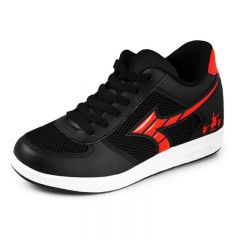 Clearance Elevator Men Trainers Get Taller 2.8inch / 7cm Breather Black Casual Sneakers