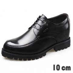 Lightweight Super Height Elevator Wedding Shoes Polished Upper Dress Shoes Get Taller 4inch / 10cm