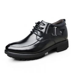 Elevator business shoes for height increase 8cm / 3.15inches formal dress shoe