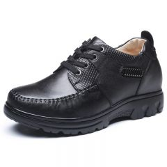 England Style Men Elevator Casual Shoes Increasing Height 8cm / 3.15inches Tall Leisure Shoes