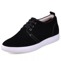 Korean Black tall casual shoes add your height 6cm / 2.36inches invisibly
