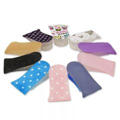 Multicolored silicone half increase height insoles add taller 3.5cm to 5cm lifts Inserts 2 - 3 layers