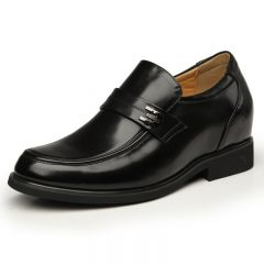 Clearance business elevator dress shoes that increase height 3.15inches / 8cm men taller shoes