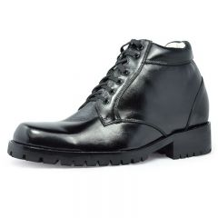 Men heght increase genuine leather ankle elevator boots 9 cm / 3.54 inch comfortable elevator shoes